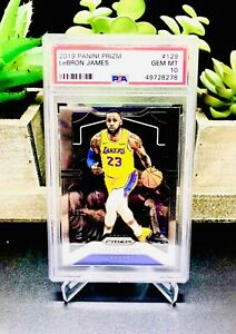 2019-20-Panini-Prizm-LEBRON-JAMES-129-Los-Angeles-Lakers-PSA-10-Gem-Mint