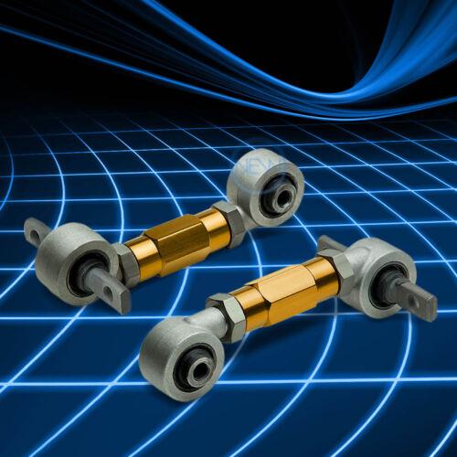 GOLD ADJUSTABLE REAR SUSPENSION CAMBER CONTROL KIT//ARM FOR CIVIC EJ EG EK//DB DC