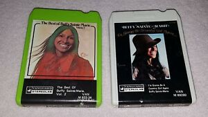Buffy Sainte Marie 8 Track Tapes Lot Of 2