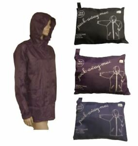 Ladies-Fold-Away-Showerproof-Rain-Jacket-Mac-In-Bag