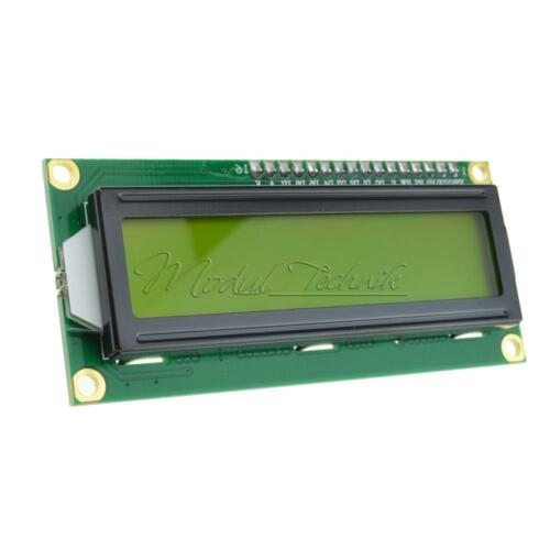 HD44780 Controller 1602 162 16x2 Character Yellow LCD Display Blacklight Module