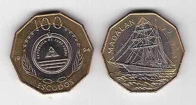 6 DIF UNC COINS SET CAPE CABO VERDE 1-100 ESCUDOS 1994 YEAR BIMETAL FLOWERS