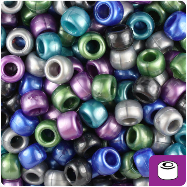500 Mauve Pearl 9x6mm Barrel Pony Beads Made in the USA by The Beadery