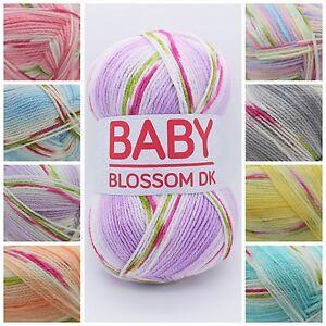Hayfield-Baby-Blossom-DK-Soft-Variegated-Acrylic-Knitting-Crochet-Yarn-100g