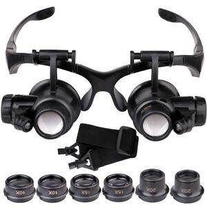 10-15-20-25X-Lupen-Vergroesserungsglas-Lupenbrille-Uhrmacher-Augenlupe-Werkzeug