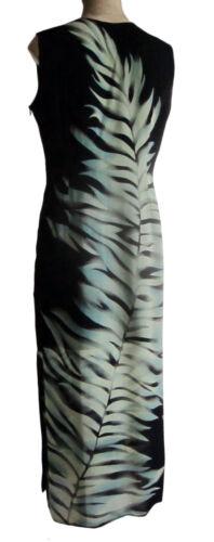 Zip Vk Size Leaves Maxi 14 mouwloze Lange Fern met zomer jurk 0wxPqWgXU