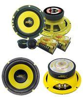 2) Pyle Plg6c 6.5 400w 2 Way Car Component+ 2) 6.5 600w Subwoofer Sub Speakers on sale
