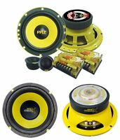 2) Pyle Plg6c 6.5 400w 2 Way Car Component+ 2) 6.5 600w Subwoofer Sub Speakers