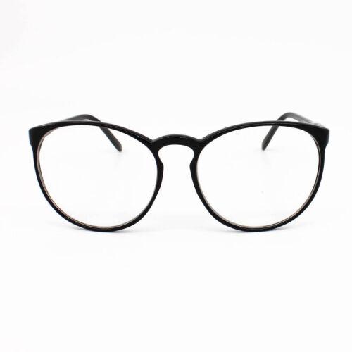 Übergröße Hoch Rund Dünn Rahmen Retro Klarglas Brille Geek Nerd Unisex