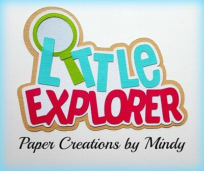 Craftecafe Mindy Outdoors Explore  premade paper piecing scrapbook die cut Title