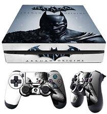 PS4 SLIM Skin Batman Arkham Origins Dark Knight Sticker + 2 Pad Vinyls laid