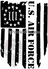 USAF,Air Force,3%,Threeper,Fly Fight Win,Flag,Military,Sticker,Vinyl Decal