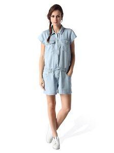 Diesel-De-Sade-Tuta-Jeans-pour-Femmes-Combinaison-Globale-Bleu