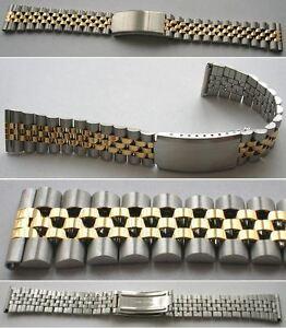 KLASSISCHES-RLX-Jubi-Style-EDELSTAHLUHRENARMBAND-BICOLOR-Wahl-18-mm-oder-20-mm