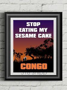 Congo-Sesame-Cake-Art-Print-Movie-Poster-Tim-Curry-Michael-Crichton