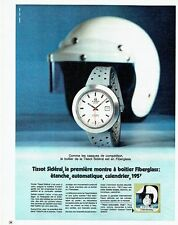 PUBLICITE ADVERTISING 0117  1971  montre Tissot Sideral en Fiberglass