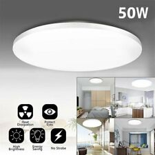 50w Led Surface Mount Fixture Ceiling Light Bedroom Kitchen Round Panel Light