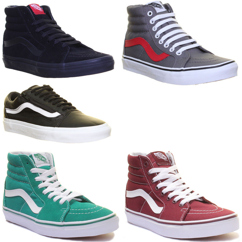 Vans Sk8 Hi Unisex Side Strip Lace up High Top Size UK 3 - 12