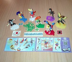 DC SUPER HERO GIRLS COMPLETE SET WITH ALL PAPERS KINDER SURPRISE 2017