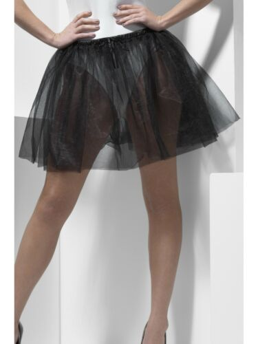 Ladies Petticoat Fancy Dress Underskirt Black Peticoat 2 Layers  34cm