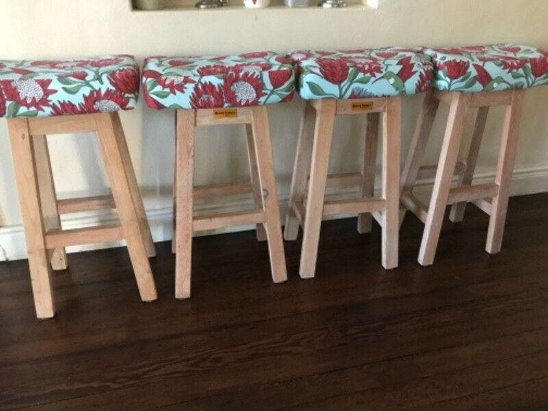 Seats, fabric, bar stools, kitchen stools, seating, recycled, Coneytimbers