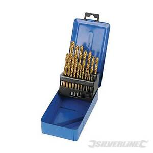 Silverline Foret Cobalt Ensemble 25pce 1-13mm Outil Bricolage Accessoires