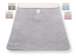 Baby-Soft-Blanket-Bedding-Cot-Bed-Crib-Pram-Basket-75x100cm-100-Cotton-Owl