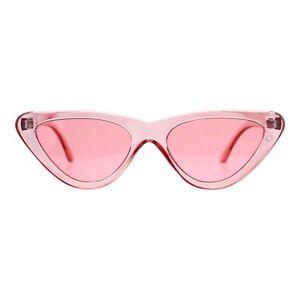 Womens-Lollita-Fashion-Sunglasses-Flat-Cat-Eye-Translucent-Colors-UV-400