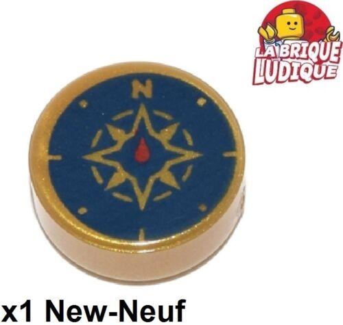 Baukästen & Konstruktion LEGO Bau- & Konstruktionsspielzeug Lego 1x Fliese rund decorated 1x1 Kompass Kompass or/pearl gold 98138pb045 neu