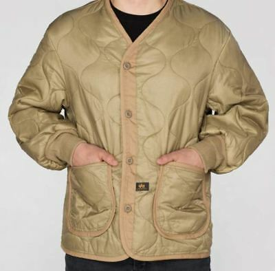 best selling new arrivals official site Alpha Industries M-65 as Liner Men's 100108/13 New Khaki MATCHING | eBay