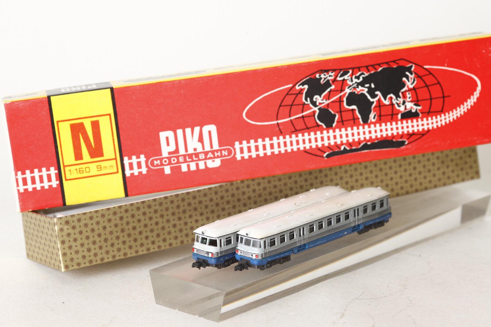 Piko Spur N  Leichttriebwagen BD 465-1 und Beiwagen  in OVP  (101242)