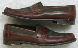 Leather-Men-039-s-Loafers-Dress-Shoes-E-T-Wright-Blue-Brown-10-5-Ten-1-2-Solid-Mans