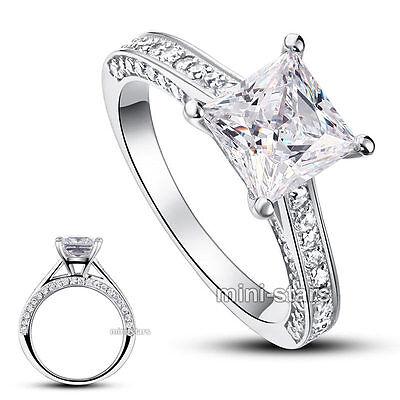 Sterlingsilber Hochzeit Verlobungsring Hergestellten Diamanten FR8009