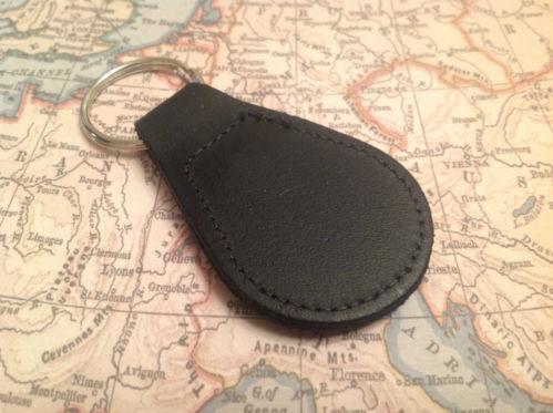HOLDEN Quality Black Real Leather Keyring