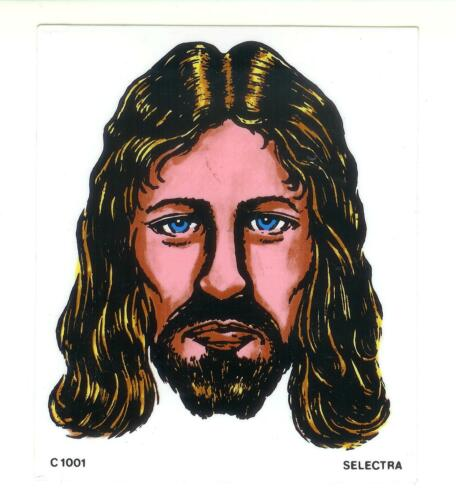 Decal Religious Clear Vinyl Rare Selectra Jesus Sticker Vintage 80/'s Classic