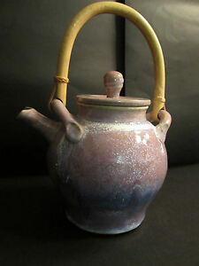 Teapot American Studio Art Pottery Tested By Fire Violet