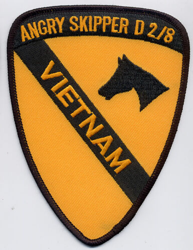 No 1st Cav 2//8 Vietnam C5788 Cav Design Angry Skipper BC Patch Cat