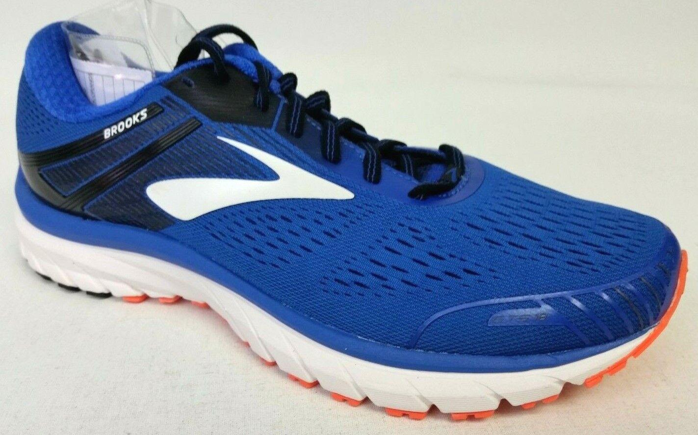 Nuovi uomini Brooks  Adrenaline GTS 18 Scarpe - Dimensione 9 - blu  arancia  basta comprarlo