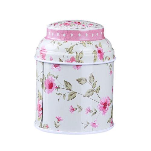 Retro Flower Kitchen Coffee Tea Sugar Container Storage Box Jar Can SJ