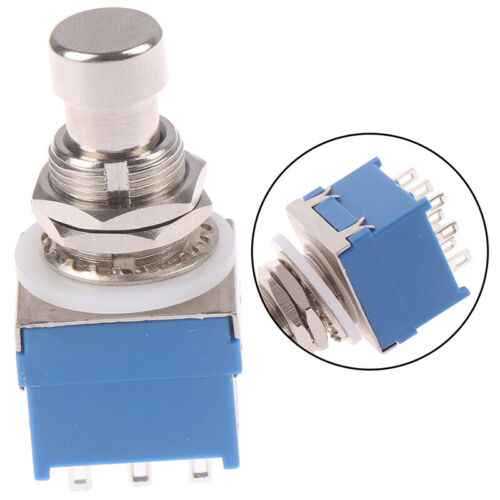 1Pc 3PDT 9-PIN Guitar Effects Stomp Switch Pedal Box Foot Metal tar Switch UK /_F