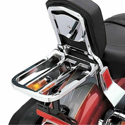 Motorcycle Sissy Bar Backrest Luggage Rack For Harley Heritage Softail FXDB FXDL