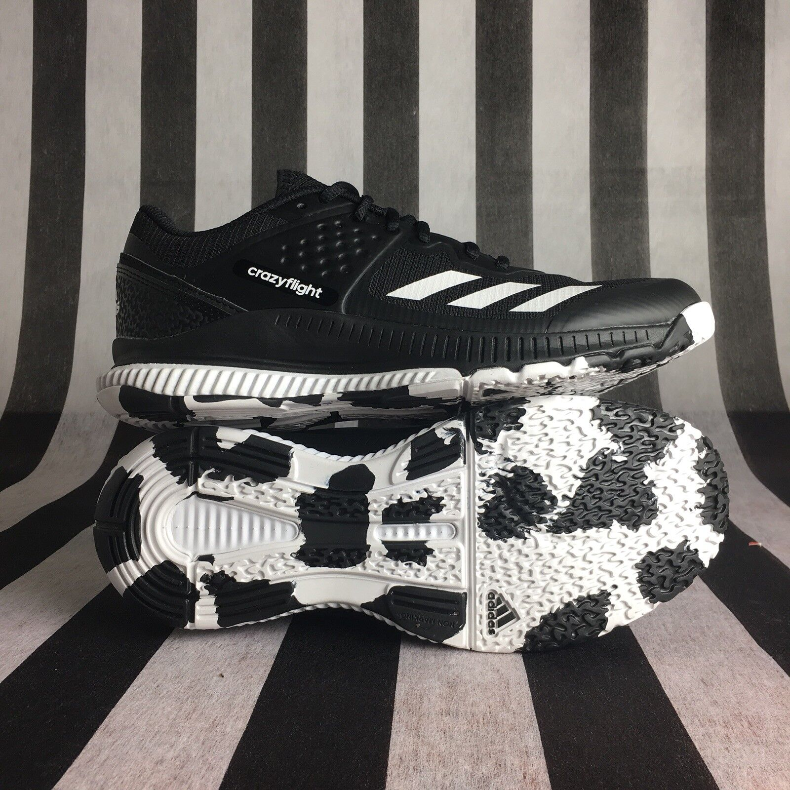 7a4a749a4ff91 ... Adidas Adidas Adidas Women s Crazyflight Bounce Volleyball-Shoes  Mystery Ink White Ice Sz ...