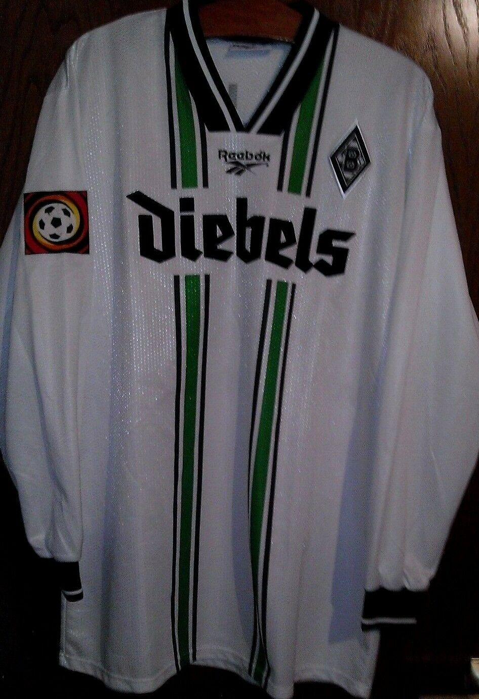 Borussia Mönchengladbach Trikot Trikot Mönchengladbach Reebok langarm Spielerversion Diebels Sammlung c0c2e2