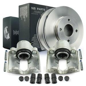2x-Brake-Caliper-Brake-Discs-Front-ford-Fiesta-IV-V-Fusion-Puma-Mazda-121-2