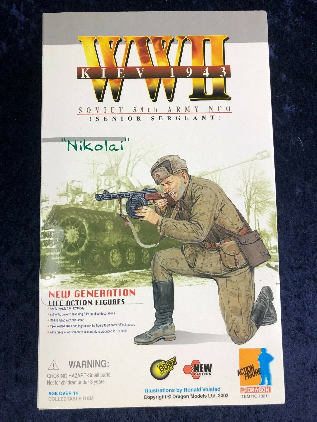 "Dragon WWII 1//6 Soviet 38th Army NCO Senior Sergeant /""Nikolai/"" Kiev 1943"
