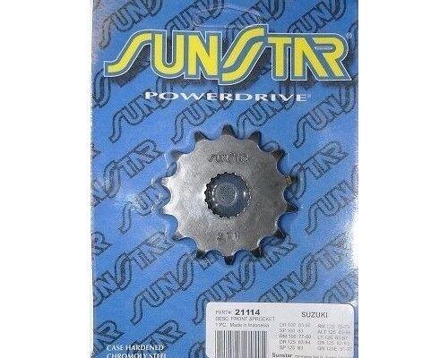 Sunstar 14 Tooth Front Sprocket 428 Pitch 21114 for Suzuki ALT//LT 125