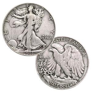 Walking-Liberty-Half-Dollar-90-Silver-Random-Date-Very-Good-to-Fine