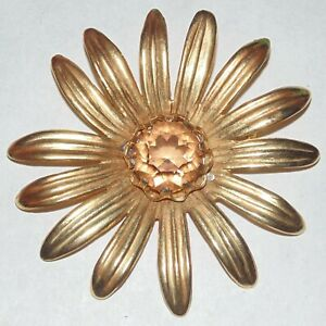 Vintage-signed-Vans-Authentic-2606-big-midcentury-rhinestone-daisy-flower-brooch