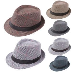 3297255108 Details about Men Women Summer Beach Hat Sun Jazz Panama Trilby Gangster  Cap Trilby Fedora