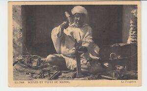 Marokko-AK-034-Ein-arabischer-Handwerker-034-Scenes-er-Types-du-Maroc